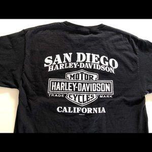 Harley-Davidson Men's L. Tee, San Diego, Cal., GUC